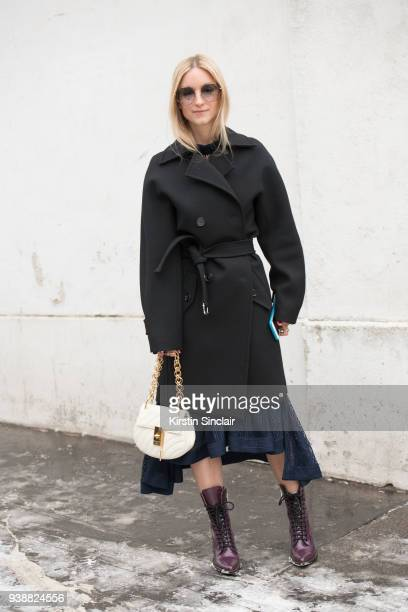 Fashion blogger of thefashionguitar Charlotte Groeneveld wears all Chloé day 4 of Paris Womens Fashion Week Spring/Summer 2018 on March 1 2018 in...