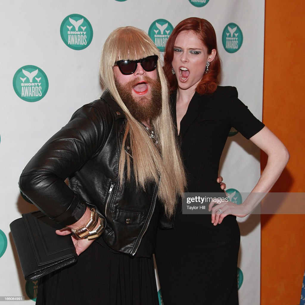 Fashion blogger P'Trique and model Coco Rocha attend the 2013 Shorty Awards at Times Center on April 8, 2013 in New York City.