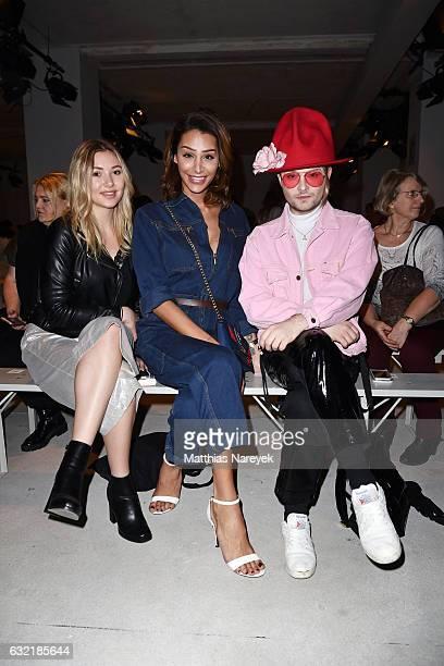 Fashion Blogger Samira Pari Roehi and Jack Strify attend the Sadak show during the MercedesBenz Fashion Week Berlin A/W 2017 at Kaufhaus Jandorf on...