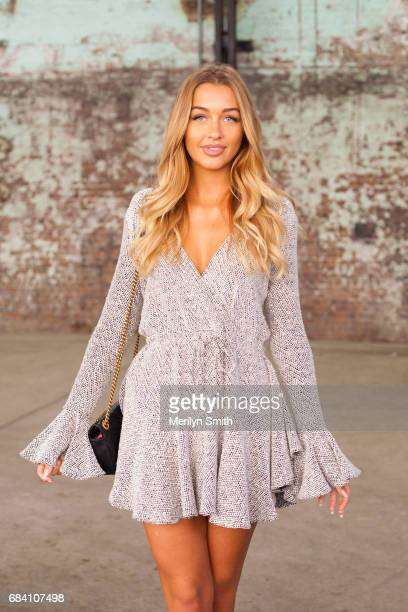 Fashion Blogger Sammy Robinson wearing a Shona Joy dress and Gucci bag during MercedesBenz Fashion Week Resort 18 Collections at Carriageworks on May...