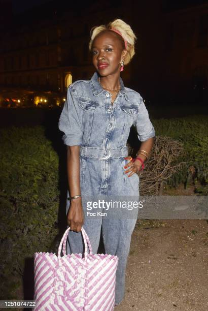 Fashion blogger Satou Luminel from Luminel News attends Valentin Cavaillé de Nogaret Birthday Party at Jardin du Carrousel on June 16 2020 in Paris...