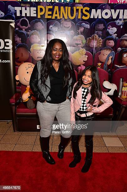 Fashion blogger Tammie Reed and actress Navia Robinson attend 20th Century Fox's The Peanuts Movie VIP Red Carpet Screening on November 3 2015 in...