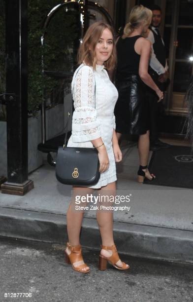 Fashion blogger Tanya Burr leaves the Beekman Hotel on July 11 2017 in New York City
