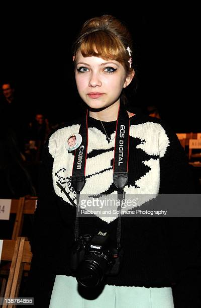 Fashion blogger Tavi Gevinson attends the Boy And Girl By Band Of Outsider Fall 2012 fashion show during MercedesBenz Fashion Week at SIR Stage37 on...