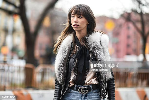 a7fa4dc50194 Fashion Blogger Thania Peck is seen wearing a Thomas Wylde fur vest Rag  Bone jacket Cheap