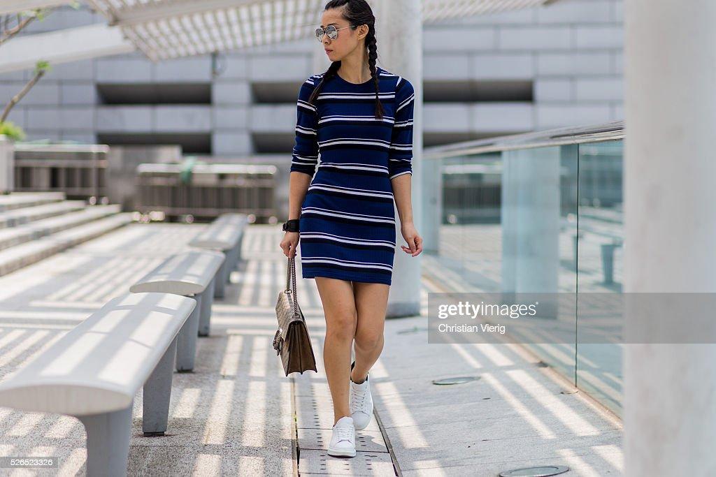 Street Style in Hong Kong - April 2016 : News Photo