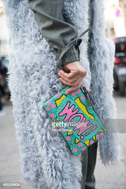 Fashion blogger Tiany Kiriloff Wears AF Vandevorst jumpsuit on day 3 of Paris Collections Women on March 05 2015 in Paris France