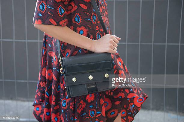 Fashion Blogger Tiphaine Albert wears all Kenzo on day 6 during Paris Fashion Week Spring/Summer 2016/17 on October 4, 2015 in Paris, France.