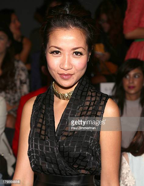 Fashion blogger Wendy Nguyen attends the Nicholas K show during Spring 2014 MercedesBenz Fashion Week at The Studio at Lincoln Center on September 5...