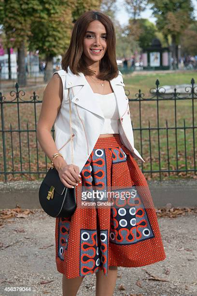 Fashion Blogger Zahra Lyla is wearing a Mango top Friends and Lovers vest Stella Jean shirt Asos shoes and Chloe bag on day 6 of Paris Collections...
