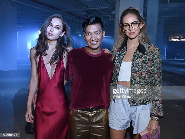 Fashion bloggers Rumi Neely Bryan Boy and Chiara Ferragni attend 31 Phillip Lim during New York Fashion Week 2016 at Skylight Clarkson North on...