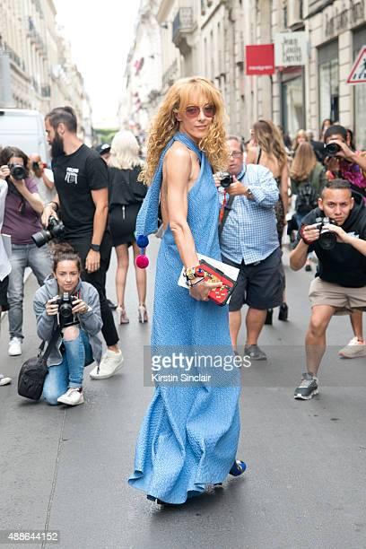 4ad0735650520b Fashion buyer and Kabuki boutique owner Elina Halimi wears a Natasha Zinko  Dress with Louis Vuitton
