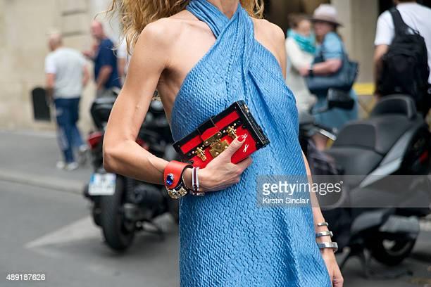 06ef51c76557e3 Fashion buyer and Kabuki boutique owner Elina Halimi wears a Natasha Zinko  Dress with a Louis