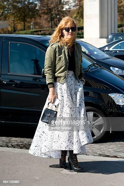 59cc3f2fbd3b7e Fashion Buyer and Kabuki boutique owner Elina Halimi wears a Toni  Maticevski skirt Saint Laurent jacket