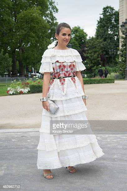 Fashion buyer and owner of the Webster store Laure Heriard Dubreuil wearing all Chanel day 3 of Paris Haute Couture Fashion Week Autumn/Winter 2014...