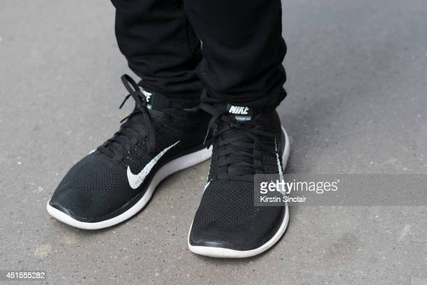 Fashion buyer Filippo Biraghi wearing Nike trainers on day 1 of Paris Collections Men on June 25 2014 in Paris France
