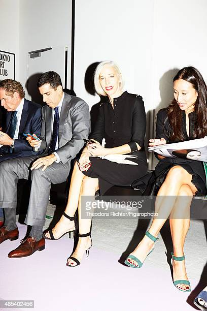 Fashion buyer for Bergdorf Goodman, Linda Fargo is photographed for Madame Figaro on September 25, 2014 in Paris, France. PUBLISHED IMAGE. CREDIT...