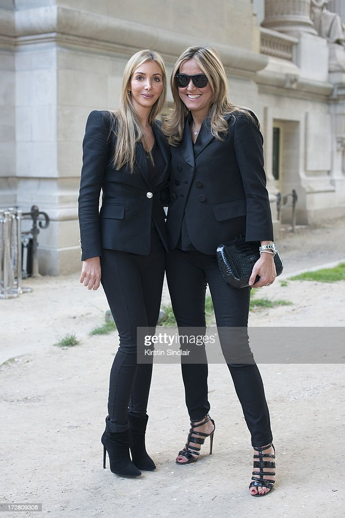 Fashion Buyer for Harrods Helen David and Chief Mercahnt for Harrods Marigay McKee sighting on day 1 of Paris Collections: Womens Haute Couture on July 01, 2013 in Paris, France.