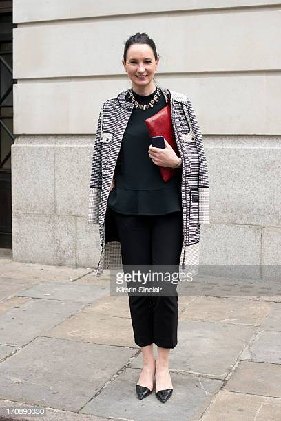 Fashion buyer for Harvey Nichols Paula Reid wears a Stella McCartney top and trousers Proenza Schouler Jacket Erickson Beamon Necklace Paul Smith Bag...