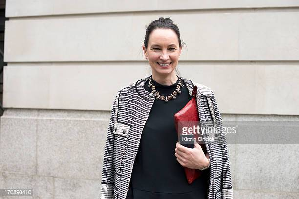 Fashion buyer for Harvey Nichols Paula Reid wears a Stella McCartney top Proenza Schouler Jacket Erickson Beamon Necklace and a Paul Smith Bag on day...