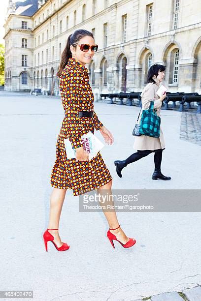 Fashion buyer for the Webster Miami Laure Heriard Dubreuil is photographed for Madame Figaro on September 25 2014 in Paris France PUBLISHED IMAGE...
