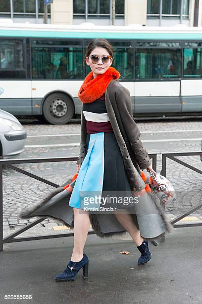 Fashion buyer Stacy Chen on day 9 during Paris Fashion Week Autumn/Winter 2016/17 on March 9 2016 in Paris France Stacy Chen