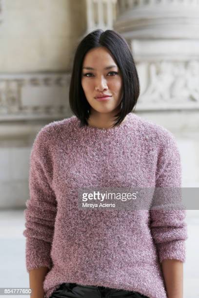 Fashion buyer Tiffany Hsu seen during Paris Fashion Week Womenswear Spring/Summer 2018 on September 27 2017 in Paris France