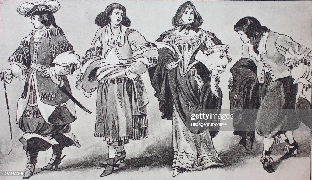 Fashion, clothes in the Netherlands around 1650-1680, Dutch