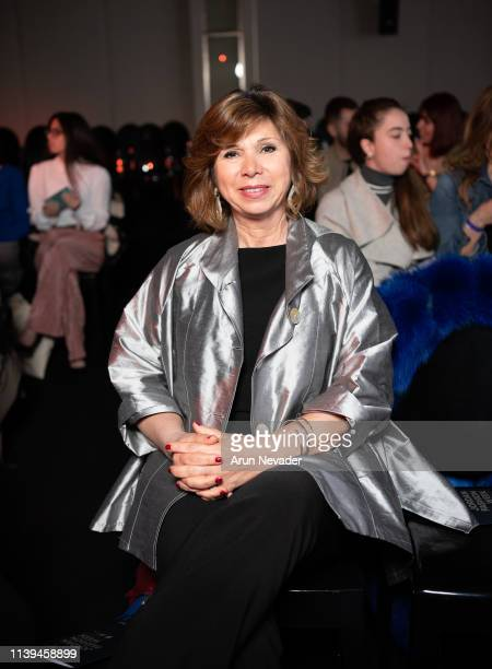 Fashion communication consultant Maria Christina Rigano attends Jordan Fashion Week 019 on March 30 2019 at the Kempinski Amman in Amman Jordan