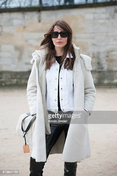 Fashion Consultant Ece Sukan on day 4 during Paris Fashion Week Autumn/Winter 2016/17 on March 4 2016 in Paris France