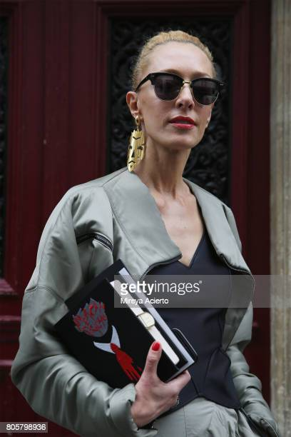 Fashion consultant Elina Halimi attends Af Vandevorst Haute Couture fashion show on July 2 2017 in Paris France
