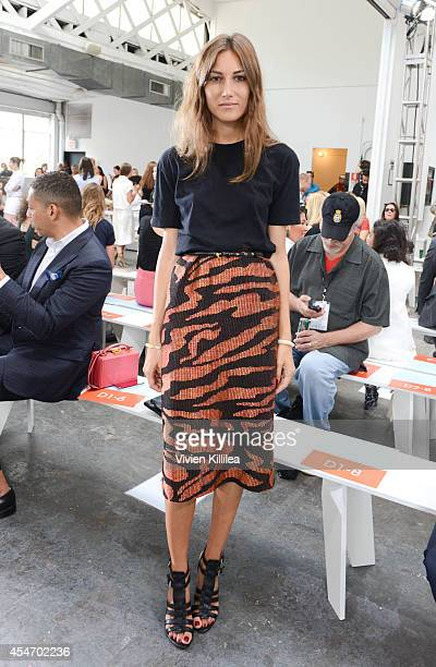 Fashion consultant Giorgia Tordini attends the Tanya Taylor fashion show during MercedesBenz Fashion Week Spring 2015 at Industria Studios on...