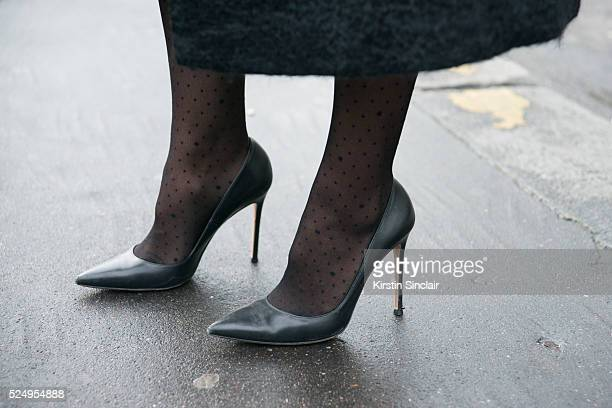 Fashion Costultant Tiany Kiriloff wears Gianvito Rossi shoes on day 7 during Paris Fashion Week Autumn/Winter 2016/17 on March 7 2016 in Paris France...