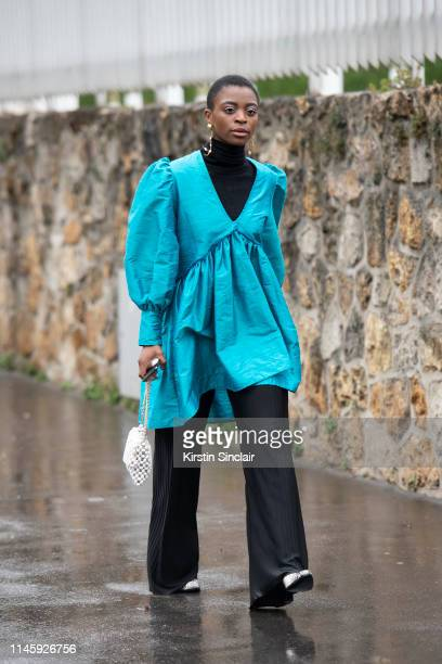 Fashion creative Milla Loud wears a Maison Cleo top on March 01 2019 in Paris France