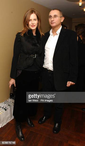 TV fashion critic Trinny Woodall and husband Johnny Elichaoff arrive at the launch party for Harry's Of London at Harvey Nichols in central London...