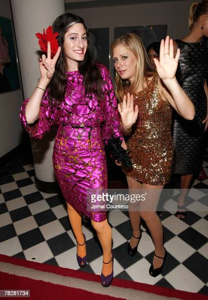 Fashion Deigners Arden Wohl and Tara Subkoff attend the Dolce Gabbana's The One Fragrance Launch and Private Dinner at The Grammercy Park Hotel on...