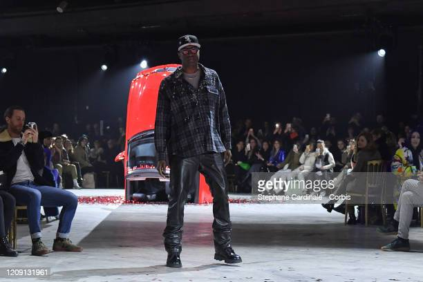 Fashion desgner Virgil Abloh walks the runway during the Off-White show as part of the Paris Fashion Week Womenswear Fall/Winter 2020/2021 on...