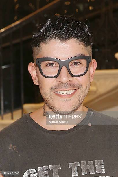 Fashion design winner from Project Runway All Stars Season 1 Mondo Guerra attends Viktor Luna fashion show during New York Fashion Week September...