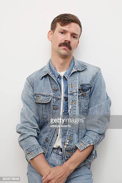 Fashion designer Adam Selman poses backstage before the Adam Selman fashion show during MADE Fashion Week September 2016 at Milk Studios on September...