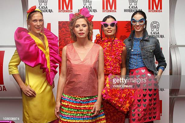 Fashion designer Agatha Ruiz De La Prada attends a press conference during Intermoda 2010 at Expo Guadalajara on July 20 2010 in Guadalajara Mexico