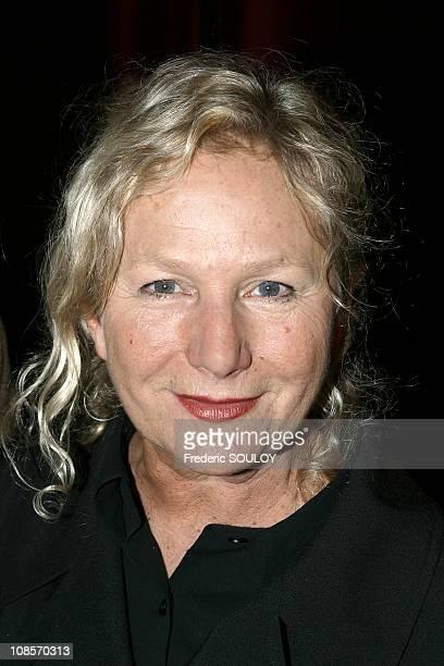 Fashion designer Agnes B in Paris France on February 24 2005