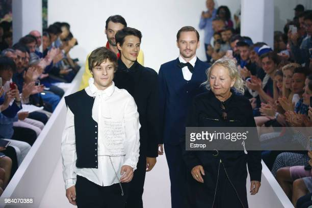 Fashion designer Agnes Trouble during the Agnes B Menswear Spring/Summer 2019 show as part of Paris Fashion Week on June 24 2018 in Paris France