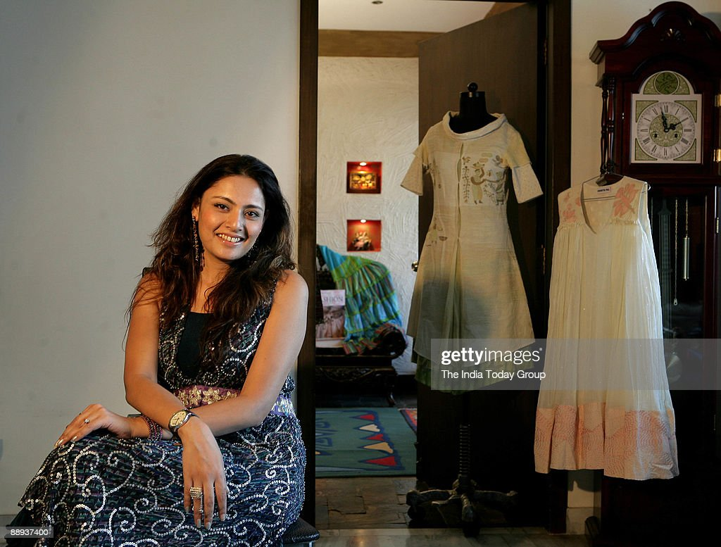 Fashion Designer Agnimitra Paul With Her Outfit At Her Studio In News Photo Getty Images