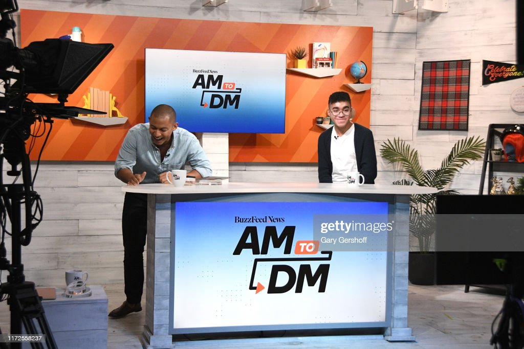 """Celebrities Visit BuzzFeed's """"AM To DM"""" - September 5, 2019 : News Photo"""