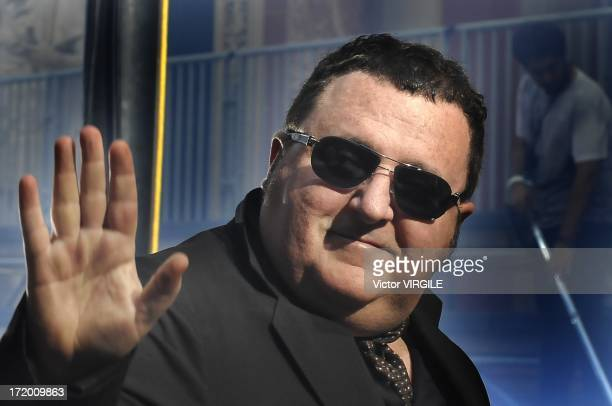 Fashion designer Albert Elbaz at the reahersal of the Lanvin Menswear Ready to Wear Spring/Summer 2014 show as part of the Paris Fashion Week on June...