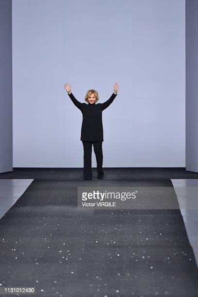 Fashion designer Alberta Ferretti walks the runway at the Alberta Ferretti Ready to Wear Fall/Winter 20192020 fashion show during Milan Fashion Week...