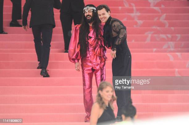 Fashion designer Alessandro Michele and Harry Styles attend The 2019 Met Gala Celebrating Camp Notes on Fashion at Metropolitan Museum of Art on May...