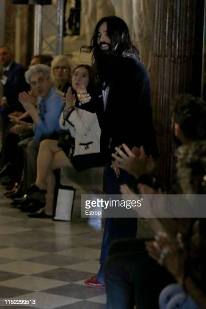 Fashion designer Alessandro Michele walks the runway at the Gucci Cruise 2020 show at the Musei Capitolini on May 28th 2019 in Rome Italy