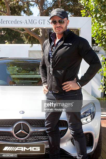 Fashion designer Alex Perry at the AMG Challenge at 2015 Formula 1 Rolex Australian grand Prix on March 11 2015 in Melbourne Australia