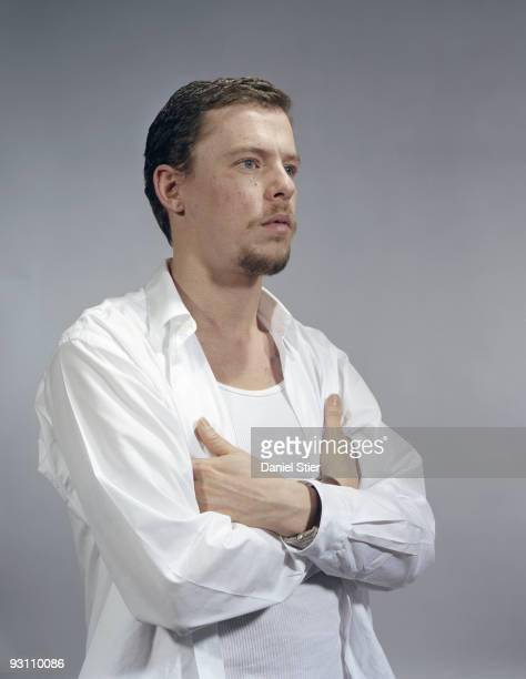 Fashion designer Alexander McQueen poses for a portrait shoot in London on January 15 2003